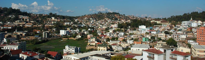 Vue panoramique sur Antananarivo